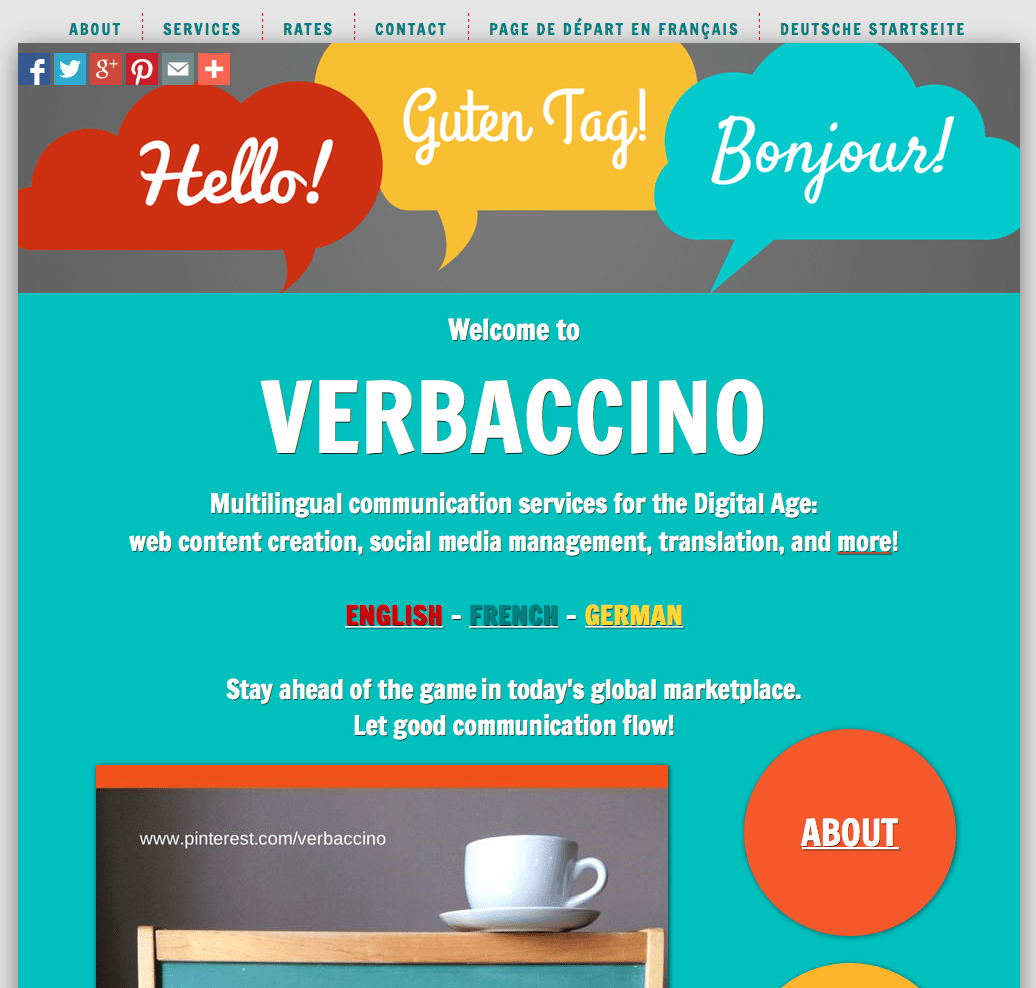 Verbaccino's English Home Page