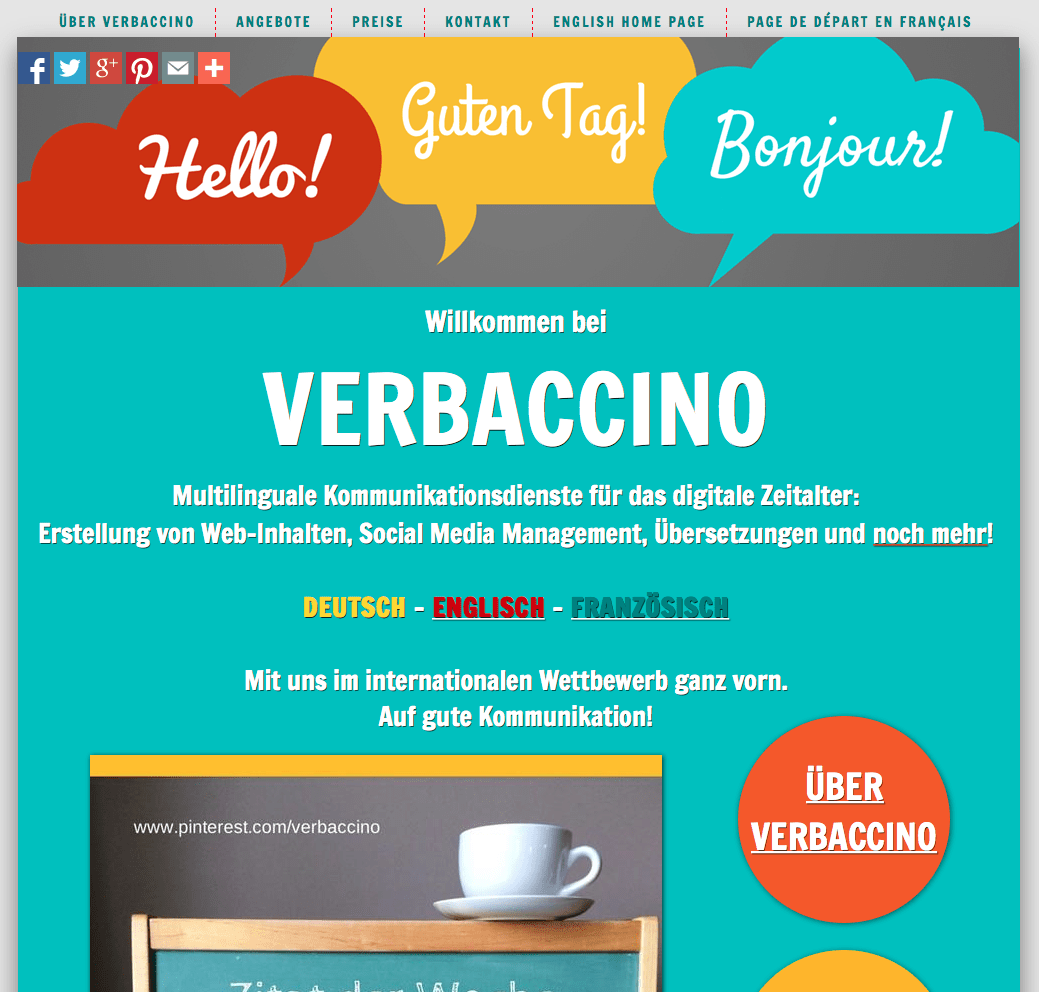 Verbaccino's German Home Page