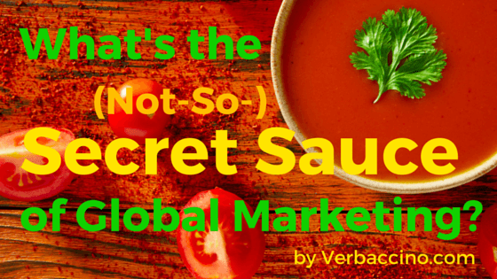 Verbaccino Blog - Secret Sauce
